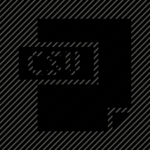 csv, data, doctype, excel, filetype, mimetype, spreadsheet icon