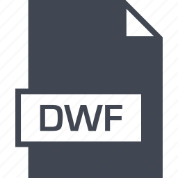 dwf, extension, file, name icon