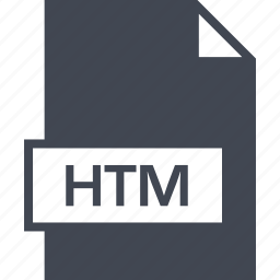 extension, file, htm, name icon