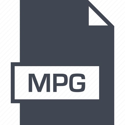 extension, file, mpg, name icon