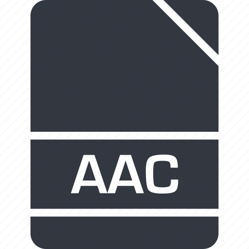 aac, extension, file, name icon