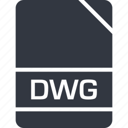 dwg, extension, file, name icon