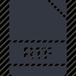 extension, file, name, rtf icon