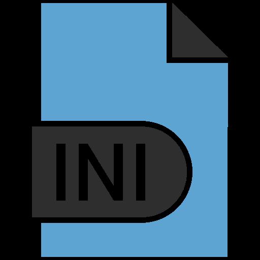 document, extension, file, ini icon