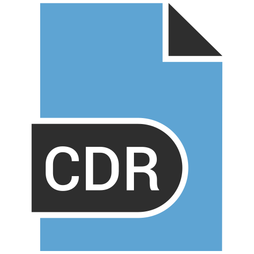 cdr, document, file, label icon