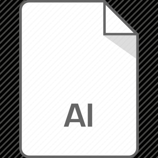 ai file, document, illustrator, page icon