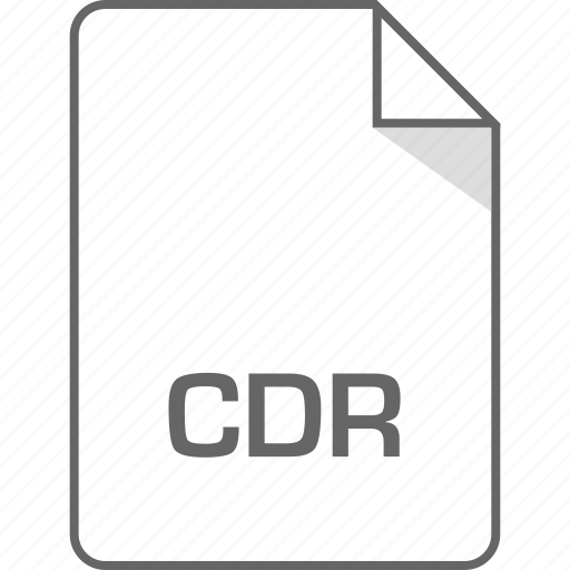 cdr, document, file, page icon