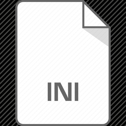 extension, file, ini icon