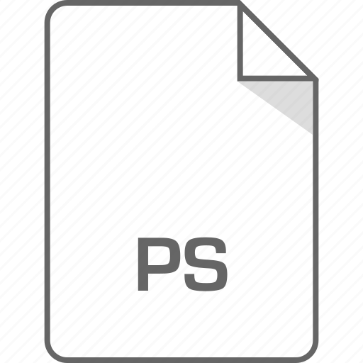 extension, file, ps icon