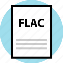 extension, file, flac, name icon