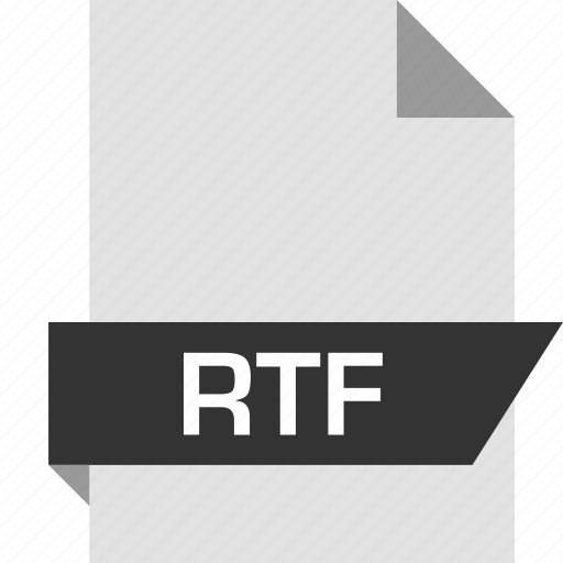 extension, page, rtf icon