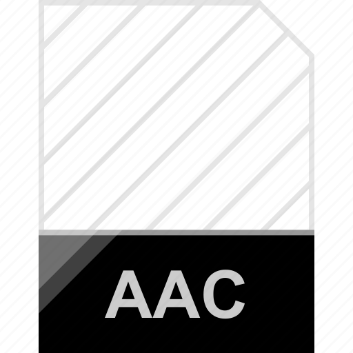 aac, extension, file, page icon