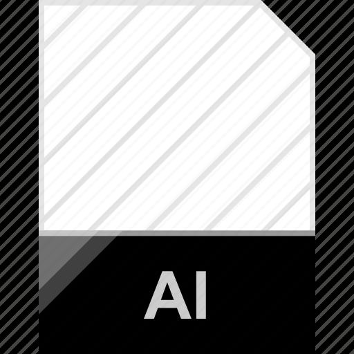 ai file, extension, file, illustrator icon