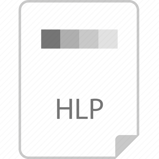 extension, file, hlp, page icon