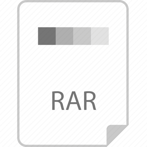 extension, file, page, rar icon