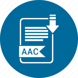 aac, document, extension, file, format, paper, type icon