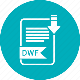 document, dwf, extension, file, format, paper, type icon