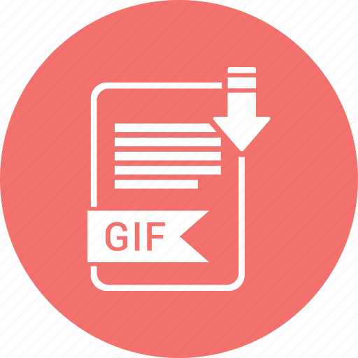document, extension, file, format, gif, paper, type icon