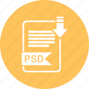 document, extension, file, format, paper, psd, type icon