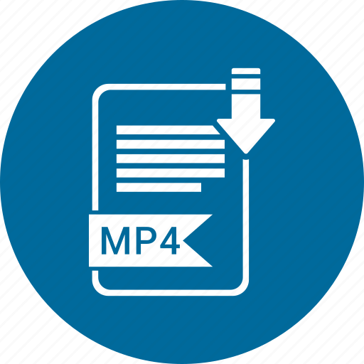 document, extension, file, format, mp4, paper, type icon