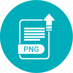 extension, file, format, paper, png icon