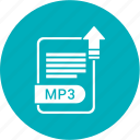 extension, file, format, mp3, paper icon