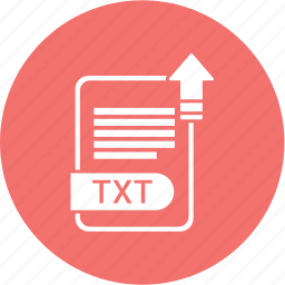 extension, file, format, paper, txt icon