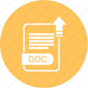 doc, extension, file, format, paper