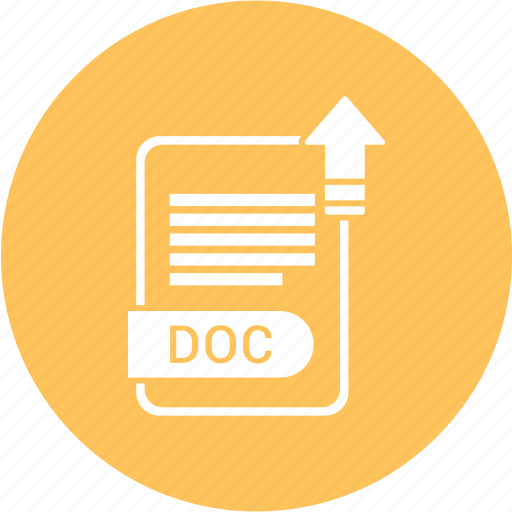 doc, extension, file, format, paper icon