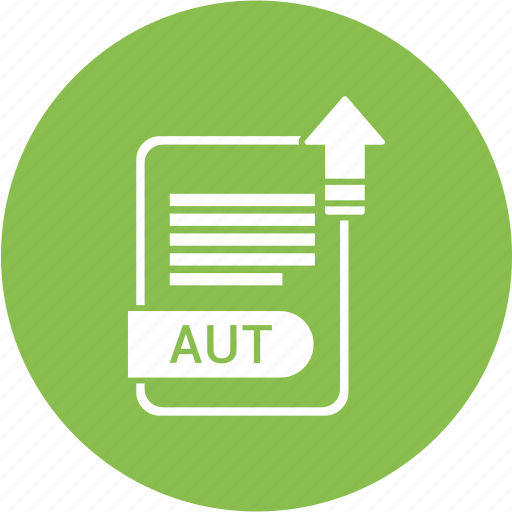 Aut, extension, file, format, paper icon - Download on Iconfinder