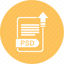extension, file, format, paper, psd icon