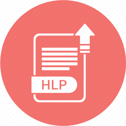 document, extension, folder, format, hlp, paper icon
