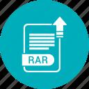 document, extension, folder, format, paper, rar