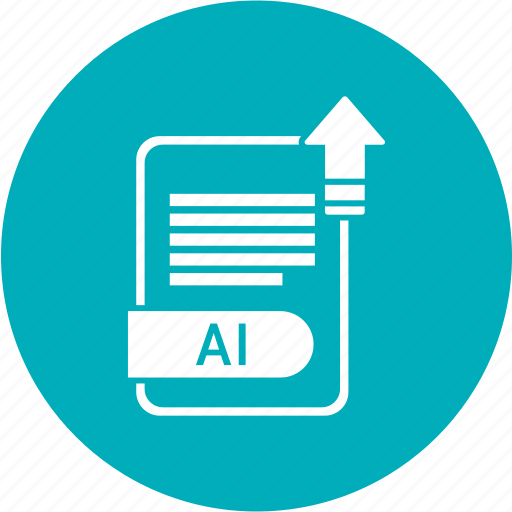 ai file, document, extension, folder, format, paper icon