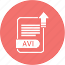 avi, document, extension, folder, format, paper icon