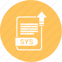 extensiom, file, file format, sys icon