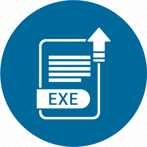 exe, extensiom, file, file format icon
