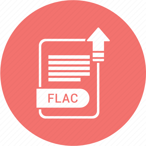 extension, file, flac, format, paper icon