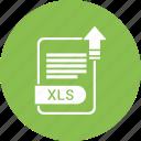 extension, file, format, paper, xls