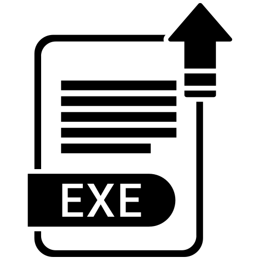 document, exe, file, format icon