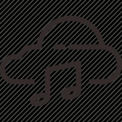 cloud, drive, hard, hardisk, multimedia, music, storage icon