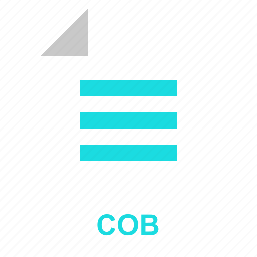 cob, extention, file, format, manager, system, typefile icon