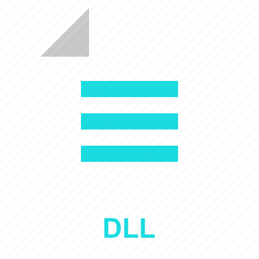 dll, extention, file, format, manager, system, typefile icon