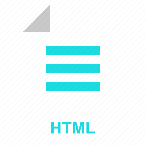 extention, file, format, html, manager, system, typefile icon