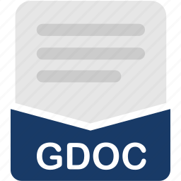 document, extension, file, format, gdoc, text icon