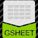 file, format, gsheet, spreadsheet, extension