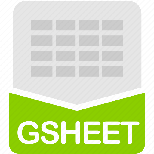 extension, file, format, gsheet, spreadsheet icon
