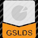 extension, file, format, gslides, presentation icon