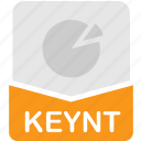 extension, file, format, keynote, presentation icon