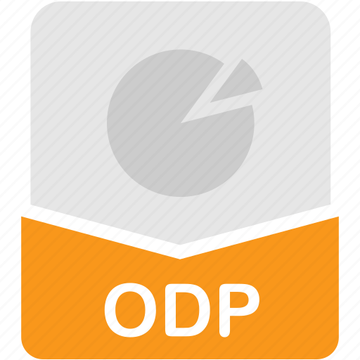extension, fie, format, odp, presentation icon